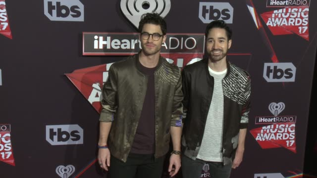 Darren Criss and Chuck Criss at the 2017 iHeartRadio Music Awards at The Forum on March 05 2017 in Inglewood California