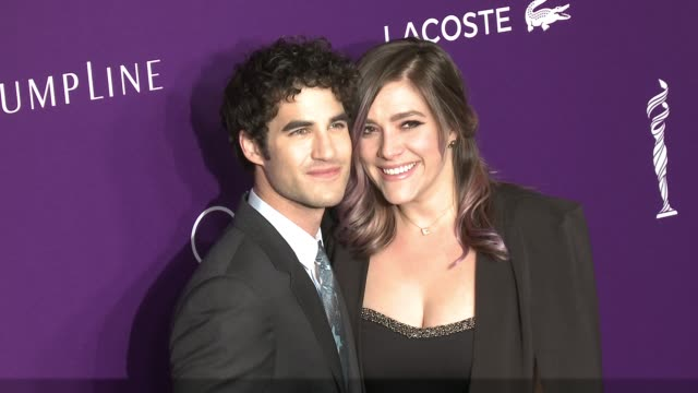 Darren Criss and Mia Swier at the 19th Costume Designers Guild Awards at The Beverly Hilton Hotel on February 21 2017 in Beverly Hills California