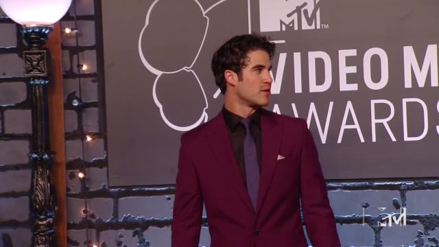 Darren Criss at 2013 MTV Video Music Awards Red Carpet at Barclays Center of Brooklyn on August 25 2013 in New York New York