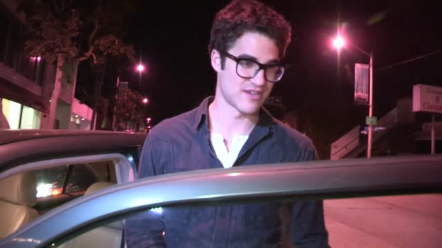 Darren Criss at Craigs in West Hollywood 10/18/12