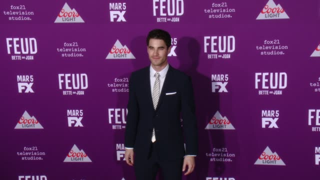 Darren Criss at Premiere Of FX Network's 'Feud Bette And Joan' in Los Angeles CA