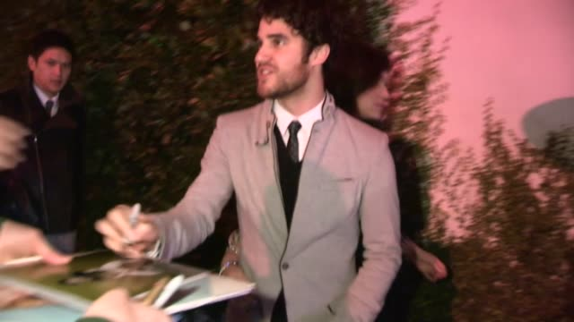 Darren Criss at the Golden Globe 2013 Kick Off Party at Cecconi's in Los Angeles 01/06/13