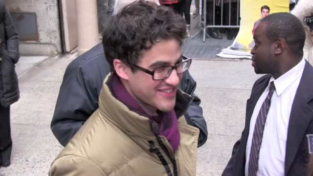 Darren Criss at the 'LIVE with Kelly' studio in New York on 1/5/2012