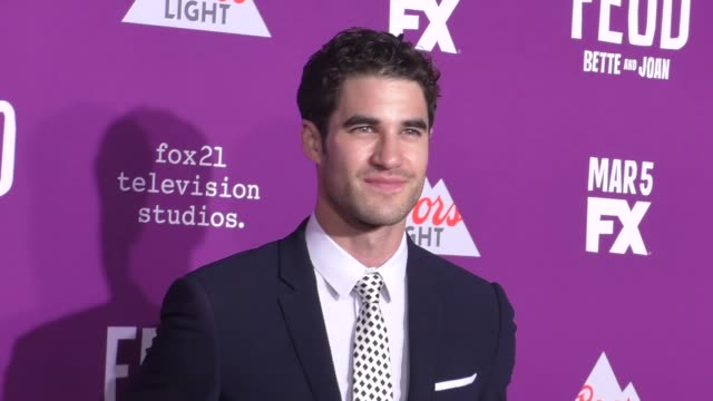 Darren Criss at the Premiere Of FX Network's 'Feud Bette And Joan' at TCL Chinese Theatre on March 01 2017 in Hollywood California
