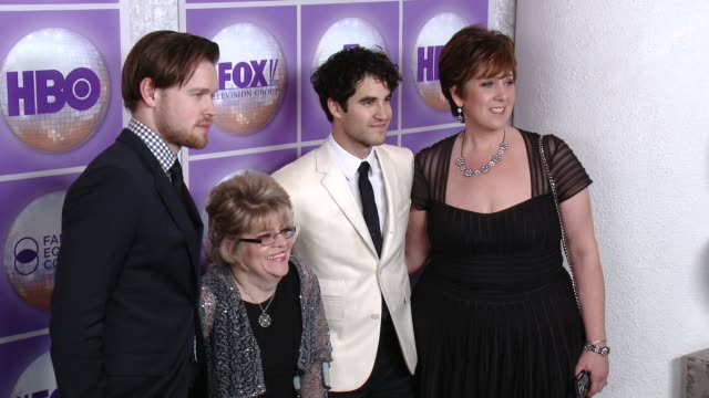 Darren Criss Chord Overstreet at Family Equality Council's Los Angeles Awards Dinner at The Beverly Hilton Hotel on February 28 2015 in Beverly Hills...