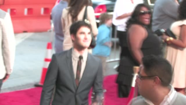 Darren Criss greets fans at Glee The 3D Concert Movie Premiere in Westwood