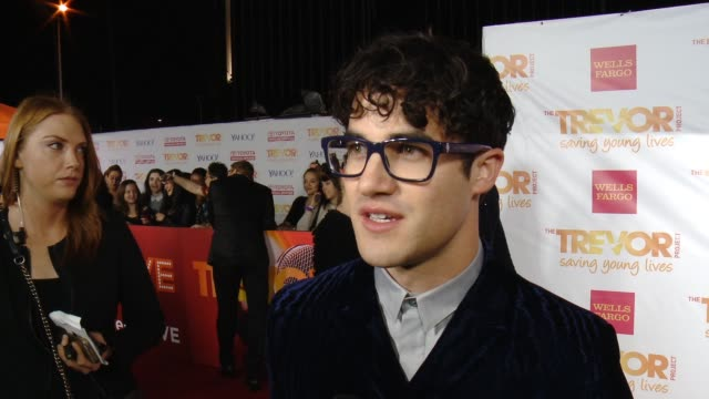 INTERVIEW Darren Criss on supporting the cause on Glee at 16th Annual Trevor Project Benefit Presented By Wells Fargo in Los Angeles CA