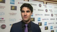 INTERVIEW Darren Criss on the event and Hugh Jackman at Hugh Jackman One Night Only Debuts At The Dolby Theatre Benefiting MPTF on 10/12/13 in Los...