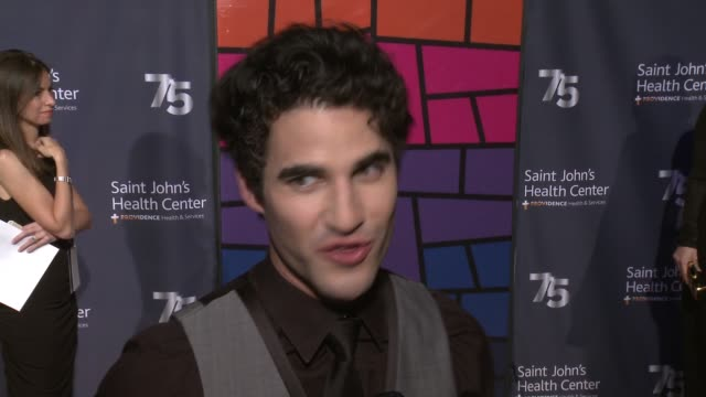INTERVIEW Darren Criss on the event at Saint John's Health Center Foundation Hosts 75th Anniversary Gala Celebration The Future of Excellence in...