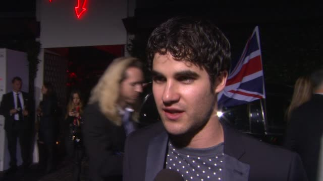 INTERVIEW Darren Criss on why Topshop is so cool at Topshop Topman LA Opening Party At Cecconi's on 2/13/2013 in Los Angeles CA