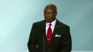 Darryl Glenn El Paso County Colorado Commissioner and Republican nominee for the Senate speaks to delegates at the convention stating he is an...