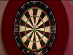 Dart is thrown at board and bounces off 2003 Embassy World Darts Championships Lakeside Frimley Green