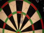 Darts hitting board and scoring 180 2003 Embassy World Darts Championships Lakeside Frimley Green