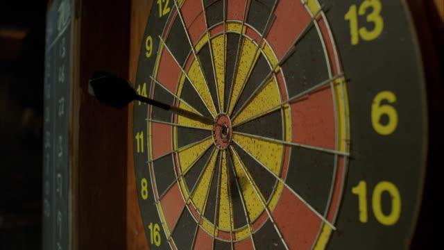CU Darts striking target bull's-eye