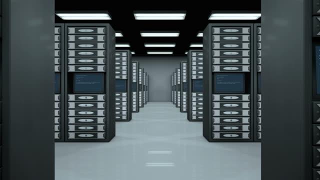 Data room full of servers
