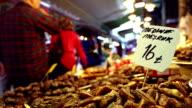 Date fruit stall on Turkish street market
