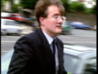 'Date Rape' solicitor jailed aNAT Swansea EXT Angus Diggle out of car as arrives at court PAN LR / Swansea Crown Court buildings / ENGLAND London GVs...