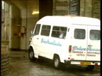 'Date Rape' solicitor jailed Van containing Diggle arriving at Swansea Jail / Van through gates of jail NAT