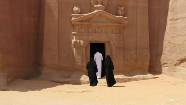 Dating back to the second century BC the Nabataean archaeological site also known as Madain Saleh has long been hidden from foreign visitors in this...