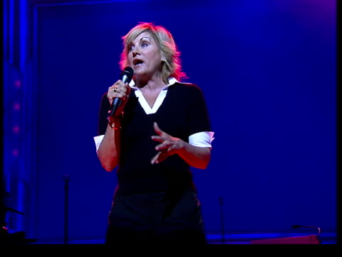 Daughter of Judy Garland on London stage ENGLAND London Lorna Luft rehearsing on stage for new show 'Songs My Mother Taught Me' Lorna Luft...