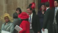 PM David and Samantha Cameron leaving Westminster Abbey at the Royal Wedding Departures Westminster Abbey B Camera at London England