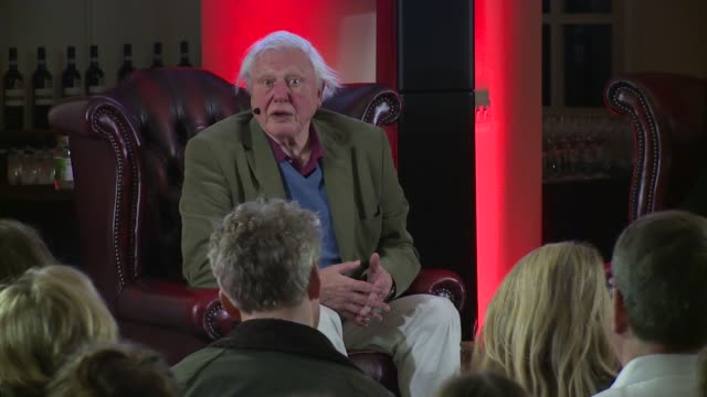INTERVIEW David Attenborough on Steve Irwin at Natural Curiosities press screening on 26th January 2015 in London England