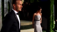 David Beckham and Victoria Beckham at the 2012 Vanity Fair Oscar Party Hosted By Graydon Carter Inside Party at West Hollywood CA