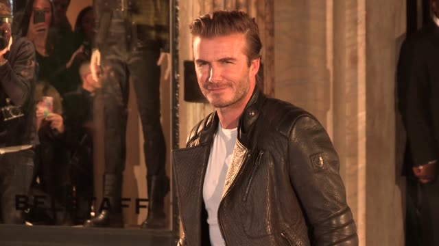 David Beckham at Belstaff House opening at Belstaff House on September 15 2013 in London England