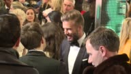 David Beckham at The EE British Academy Film Awards 8th February London England