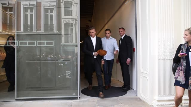 David Beckham at Victoria Beckham store launch on 25th September 2014 in London England