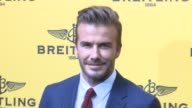David Beckham attends the opening of the oficial Breitling Boutique