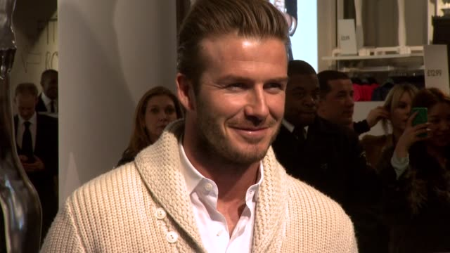 David Beckham Bodywear HM launch London United Kingdom 2/23/12