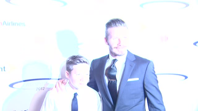 David Beckham Brooklyn Beckham at 27th Anniversary Sports Spectacular Benefiting CedarsSinai Medical Genetics Institute on 5/20/12 in Los Angeles CA
