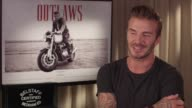 INTERVIEW David Beckham on his character at Belstaff Films 'Outlaws' on September 21 2015 in London England