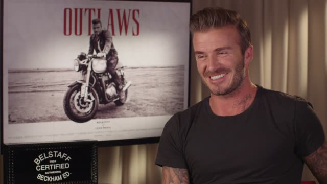 INTERVIEW David Beckham on if Victoria Beckham would be interested in getting into acting at Belstaff Films 'Outlaws' on September 21 2015 in London...