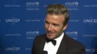 INTERVIEW David Beckham on tonight's event on his award and on his work with children and UNICEF at Sixth Biennial UNICEF Ball Honoring David Beckham...