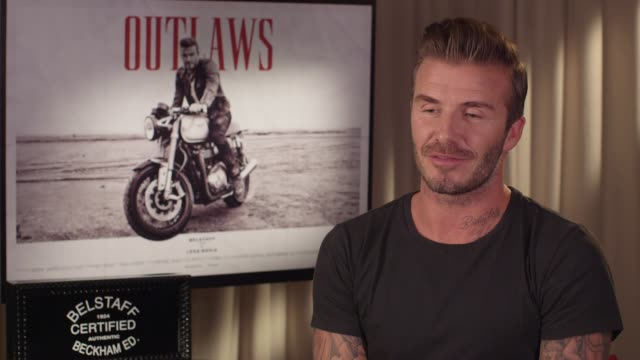 INTERVIEW David Beckham on what audiences can expect from the film at Belstaff Films 'Outlaws' on September 21 2015 in London England