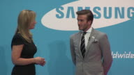 David Beckham on working with Samsung on projects at the Everyone's Olympic Games with Samsung David Beckham at London England