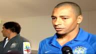 David Beckham returns to play for England Brazil squad training Gilberto Silva interview SOT Talks of return to England squad of David Beckham Silva...