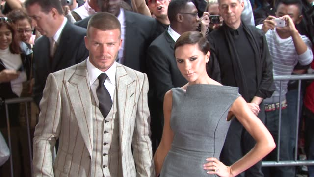 David Beckham Victoria Beckham at the David Beckham and Victoria Beckham Launch Beckham Signature in New York at New York NY