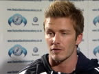 David Beckham visit to Bristol school David Beckham interview SOT On his relationship with Steve McLaren / On McLaren's recent press conference...