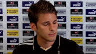 David Bentley signs for Tottenham Bentley press conference SOT Tottemham first club used to watch as child/Paul Gascoigne was favourite player when...