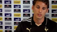 David Bentley signs for Tottenham Bentley press conference SOT Not concerned with house prices in London/Only concerned with playing football/No...