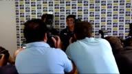 David Bentley signs for Tottenham ENGLAND London Tottenham White Hart Lane INT David Bentley and Juande Ramos enter press conference Bentley and...