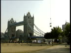Perspex box stunt ends GV Tower Bridge with Blaine suspended in plastic box in front