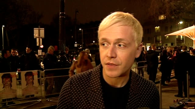 Celebrities attend private viewing Mr Hudson interview SOT / Nick Grimshaw arriving / Tilda Swinton speaking to press and arriving / Laura Carmichael...
