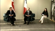 David Cameron and Francois Hollande press conference at Olympic Park Francois Hollande press conference SOT [in French with breaks for translation]...