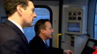 David Cameron and George Osborne visit to Bombardier factory in Derby Cameron and Osborneoc speech cutaways ENGLAND Derbyshire Derby EXT David...