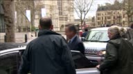 David Cameron and Michael Gove depart Policy Exchange ENGLAND London Westminster EXT David Cameron MP and others departing Policy Exchange building...