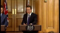 David Cameron and Nick Clegg joint press conference David Cameron answering questions SOT On winter fuel allowance very clear about the choices we've...